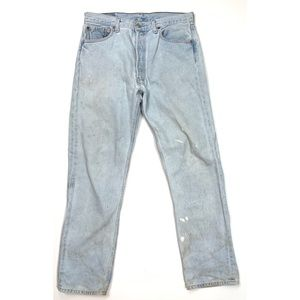 Levi's 501 Destroyed Ripped Punk Grunge 34Wx32L